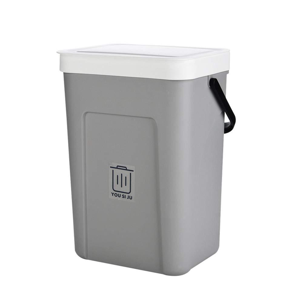 Baffect Kitchen Cupboard Bin Door Mounted Pull Out Kitchen Cupboard Waste Dust Bin Under Sink Waste Bin For Mounting Behind Revolving Door Beige Cooking Dining Waste Recycling
