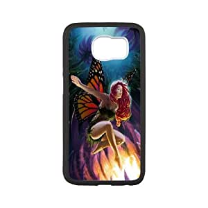 [Fairy] Butterlfy Fairy Cases for Samsung Galaxy S6, Samsung Galaxy S6 Case Luxury Protective for Girls {White}