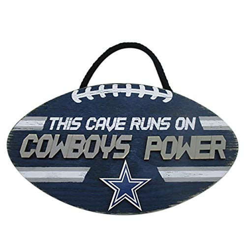Forever Collectibles FOCO NFL Team Logo Football Shape Mancave Man Cave Hanging Wall Sign (Dallas Cowboys) ()