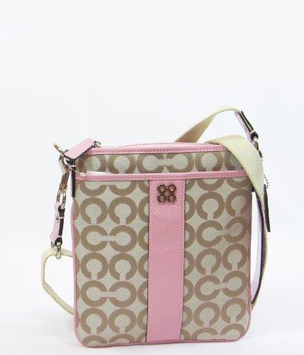 Coach Julia Spotlight Op Art Signature Swingpack Bag Sweetheart, Bags Central