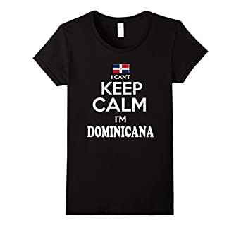 Amazon.com: Women's Republica Dominicana Keep Calm Dominicana tshirt
