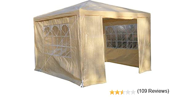 AirWave - Gazebo, Color Beige: Amazon.es: Jardín