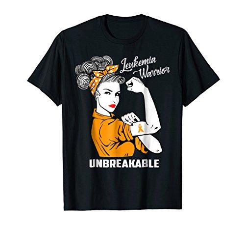 Leukemia Warrior Unbreakable T-Shirt Awareness Gift