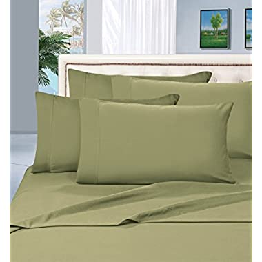 Elegant Comfort 1500 Thread Count Wrinkle & Fade Resistant Egyptian Quality Hypoallergenic Ultra Soft Luxurious 4-Piece Bed Sheet Set, Queen, Sage-Green