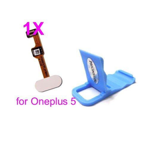 PHONSUN Home Button/Fingerprint Flex Cable for Oneplus 5 A5000 (White)