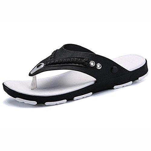 XIAOLIN Zapatillas de los hombres antideslizantes versión coreana de los hombres de la playa de verano Zapatos de los hombres usan zapatillas de marea personalizadas (tamaño opcional) ( Color : 02 , T 01