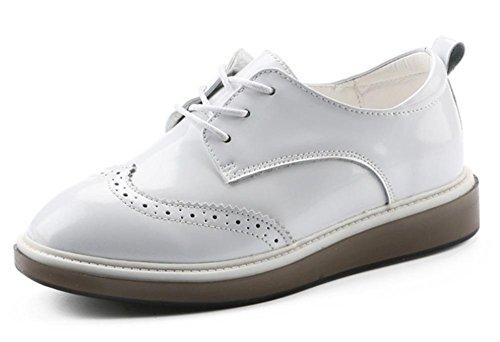 del mujeres ascensor Sra zapatos pequeños resorte escogen zapatos zapatos los aumentaron retro white ZqF0OwSp