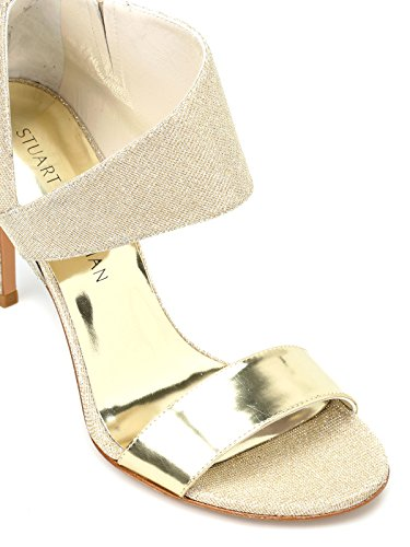 Leather Gold Stuart Women's Sandals Getonuppalegold Weitzman tHw4wgI
