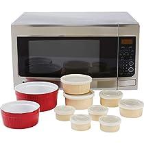 La Cuisine KTMW18SW 18 Piece Microwave Stoneware Set