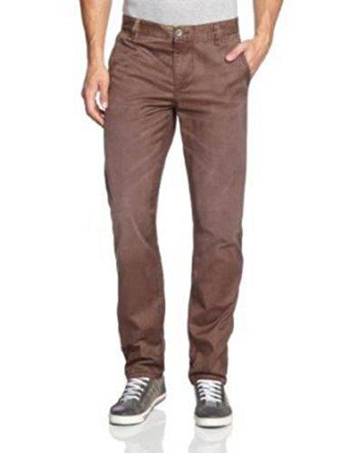 Dockers Pantalon Hommes Ceinture Normale Alpha Bougran Fini 44582 - Texture Vin, Homme, 30W / 32L