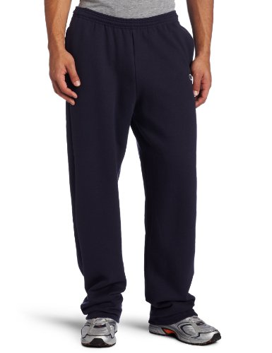 Champion Men's Open Bottom Eco Fleece Sweatpant, Navy, - Bottom Sweatpant Heavyweight Open