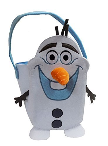 [Disneys Frozen Olaf Felt Tote Basket with Velcro Nose - Perfect for Halloween Candy or Easter Basket] (Olaf Costumes 2017)