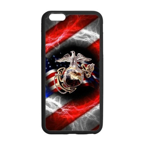 - [8 - & 8 - Case] rubber Protective Rubber Case for NEW iPhone 8 - 8 - - USMC Marine Corps -I8P415Ships from Florida and delivery within 8 Business days