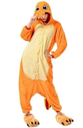 Dragon Horse Costume (Unisex Adult Animal Oneise Kigurumi Pajamas Halloween Horse Cosplay Costume L Fire Dragon)