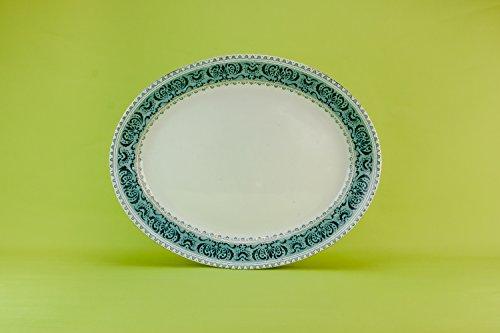 Antique Fish Platter - Antique Large Pottery Ionian Retro Dinner Serving PLATTER Attractive Green Fish Arts Crafts Dish Circa 1900 English LS