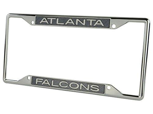 - Atlanta Falcons Carbon Fiber LASER FRAME Chrome Metal License Plate Tag Cover