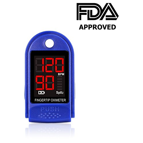 Finger Pulse Oximeter – FDA Approved - Blood Oxygen Saturation Monitor - Accurate Readings with a Push of a Button – Health/Sports/Aviation Enthusiasts & more - Use Anywhere – SPO2 for Kids to Adults (Sports Enthusiast)