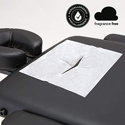 DR.LOMILOMI Disposable Facial Plug Breathing Space Sheet Cover for Massage Table (A Pack of 100 Pcs) ()