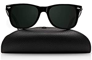Wayfarer Polarized Sunglasses for Men and Women | UV400 Protection Factor Lenses with Maintenance Set by REVOLUTTI