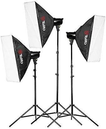 T-180B High Power Panel Digital Camera/Camcorder Video Light Photography Lamp (3 Sets of LED On-Camera Lights)