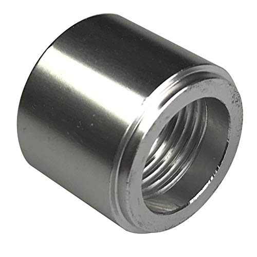 1/2 NPT Weld on Bung Aluminum Female Threaded Nut for Fuel, Oil, Coolant and Air