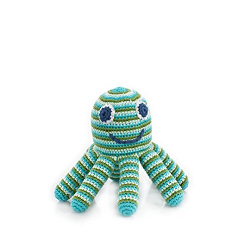 Pebble Deep Green Octopus Rattle Octopus toys, Kids toys, Toddler Toys | Helping women out of poverty and putting smiles on faces worldwide!