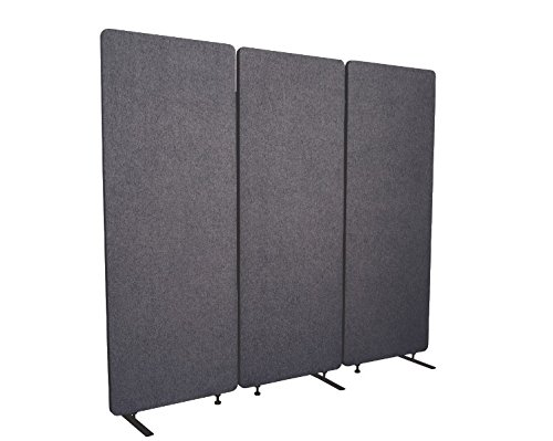 Stand Up Desk Store ReFocus Acoustic Room Dividers | Office Partitions - Reduce Noise and Visual Distractions with These Easy to Install Wall Dividers (72