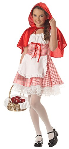 California Costumes Girls Tween Little Red Riding Hood, Red/White, X-Large (12-14)