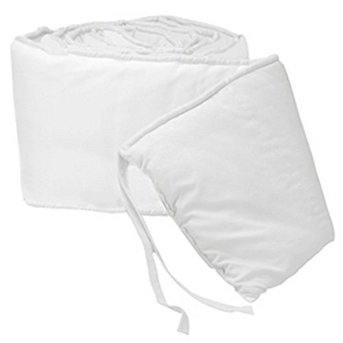 bkb Baby Cradle Bumpers, White, 15'' x 33''
