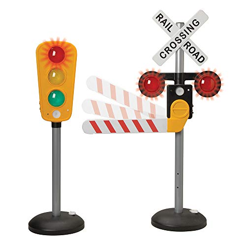 (Interactive Traffic Signs - Light-up, Talking Traffic Light & Railroad Crossing)