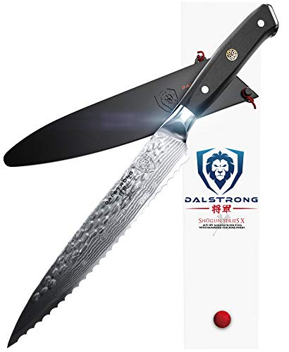 DALSTRONG Serrated Utility Knife - Shogun Series X - Petty - Damascus - AUS-10V - 6