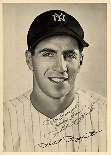 - Phil Rizzuto Signed Auto 6.5x9 Photo Picture Pack 1948 New York Yankees To Carol Holy Cow - Beckett Authentic