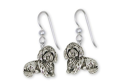 Lhasa Apso Jewelry Sterling Silver Lhasa Apso Earrings Handmade Dog Jewelry LSZ18-E