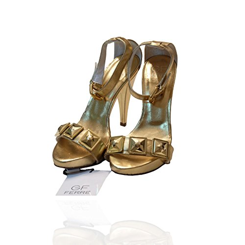 92ee51dc750d4 GF Ferrè Gold Women's Sandal with Jewel High Heels Tg.40