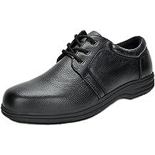 DREAM PAIRS Men's Uno Genuine Leather Restaurant Oxfords Work Shoes