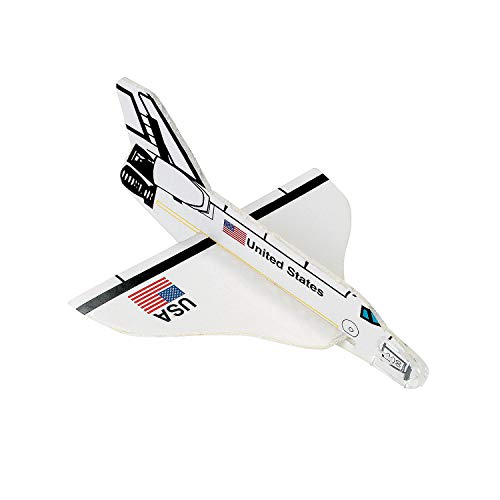 Fun Express - Space Shuttle Foam Glider - Toys - Vehicles - Gliders - 12 Pieces