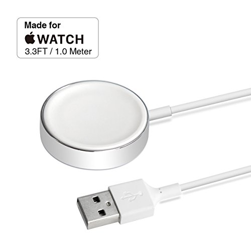 Apple Watch Charger,Back Up iWatch Magnetic Charging Cable for Apple Watch Series 1 2 3 all 38mm 42mm iWatch 1.3in by Arifoo