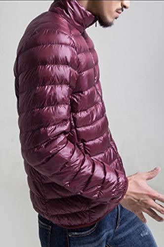 Verso Alla Basso Più Il Packable Di Giacca Coreana Leggero Colletto Puffer Rossa Formato Gocgt Maschile Vino xY8da8qw