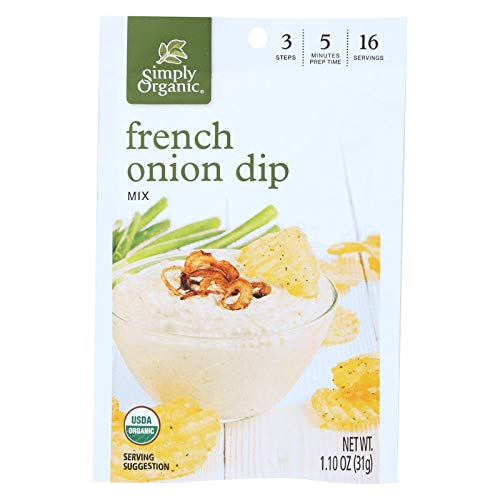 Simply Organic French Onion Dip ( 12x1.1 OZ) ()