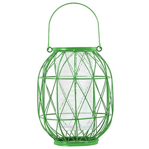 BROSCO Wall Hanging Lantern Tea Light Candle Holder Cup CASE Centerpiece Green- L