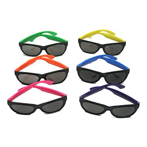 Fun Express Child Neon Sunglasses,  6 assorted colors, Sold as package of - Sunglasses Size 6
