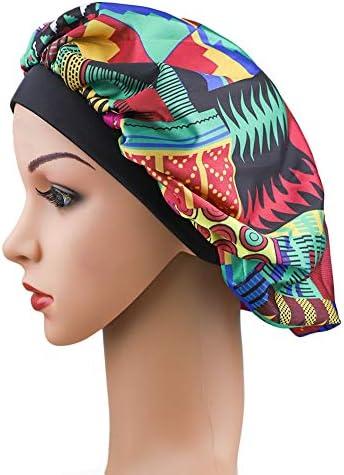 EXCEART 8 Pcs Silky Durag /Élastique Headwrap Cap Turban Chemo Hat Sleeping Head Cover Night Beanie avec Longue Queue pour Hommes Femmes Cheveux Vagues Salon Beaut/é