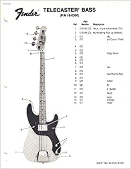 fender telecaster bass electric guitar parts list fender fender telecaster bass electric guitar parts list fender electronics sunn amazon com books