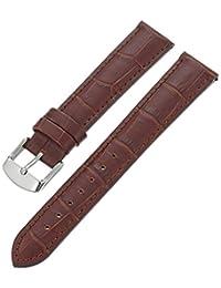 Hadley-Roma Men's MSM898RB-180 18mm Brown Alligator Grain Leather Watch Strap