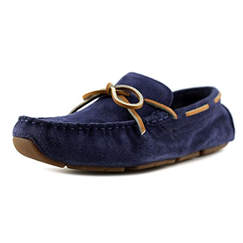 Cole Haan Kelson Mens Camp Moc Driving Shoes Giacca In Pelle Scamosciata Blu