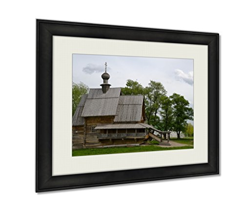 Ashley Framed Prints Ancient Wooden Christian Church On A Hill Art photography interior design artwork framed office 24x30 art by Ashley Framed Prints
