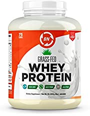 Grass Fed Whey Protein - 100% Pure, Natural & Raw – 24g High Protein - 1lb/15-5lb/75 Servings - Cold Processed Undenatured - Non-GMO - rBGH-Free - High Quality Wisconsin USA