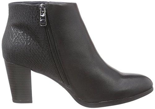 TOM TAILOR Tom Tailor Damenschuhe - botas de caño bajo de cuero mujer negro - negro
