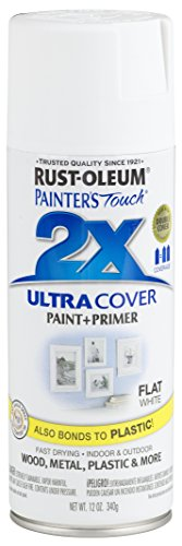 White Flat Paint Spray - Rust-Oleum 249126-6 PK Painter's Touch 2X Ultra Cover, 12 oz, White