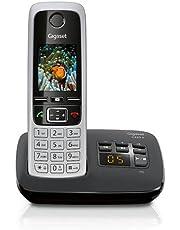 Gigaset C430A - Schnurlostelefon mit Anrufbeantworter - DECT-Telefon mit Freisprechfunktion - klassisches Universal-Mobilteil mit TFT-Farbdisplay - schwarz-silber
